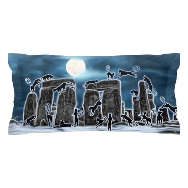 Bast Moon Over Stonehenge Pillow Sham