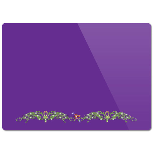 Double Jasmine Border Glass Cutting Board