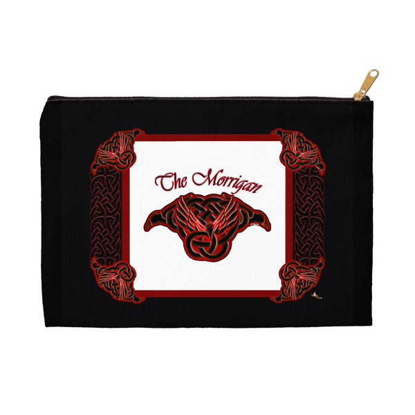 The Morrigan Raven-Knot with Knotwork Frame Accessory Pouch