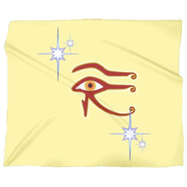 Eye of Isis/Auset Jersey Blanket (L)