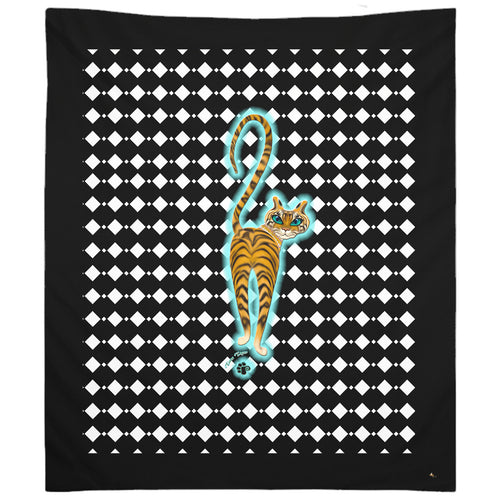 Tara's Tiger Walking Tapestry (P)