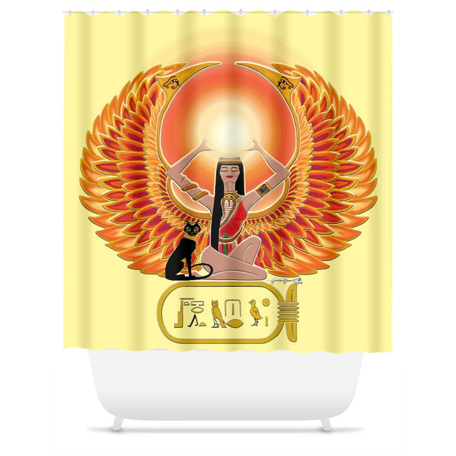 Isis/Auset with Cartouche Shower Curtain