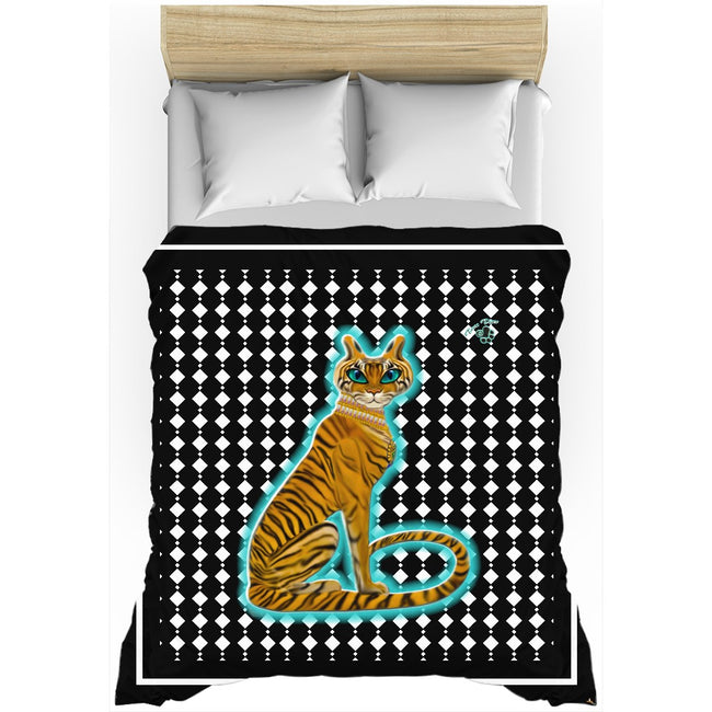 Tara's Tiger Sitting Duvet Cover