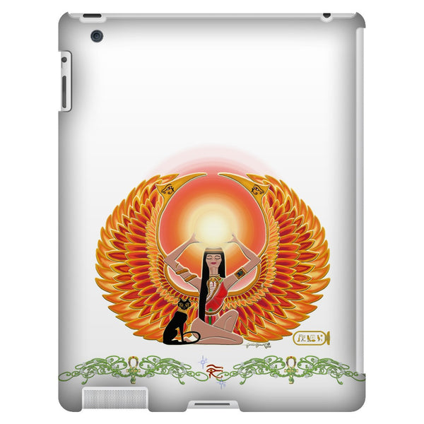 Isis/Auset with Double Jasmine Border iPad 3/4 Tablet Case