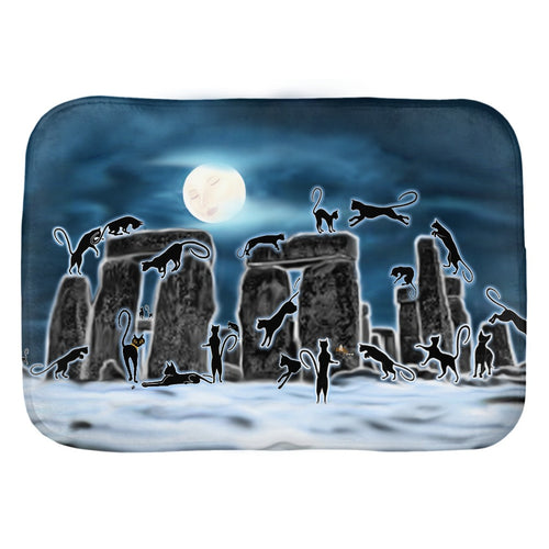 Bast Moon Over Stonehenge Bath Mat
