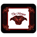 The Morrigan Raven-Knot with Knot-work Frame Mouse Pad