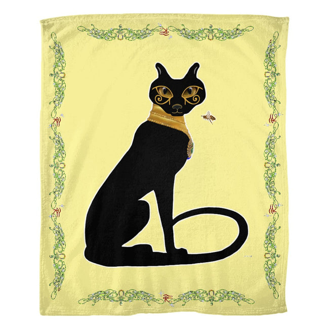 Bast with Double Jasmine Border Fleece Blanket (P)