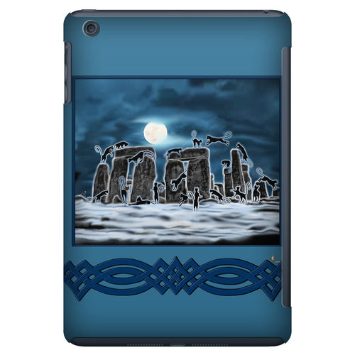 Bast Moon Over Stonehenge with Knotwork Bracket iPad Mini Tablet Case