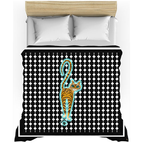 Tara's Tiger Walking Duvet Cover