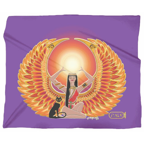 Isis/Auset Jersey Blanket (L)