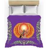 Isis/Auset with Jasmine Border Duvet Cover