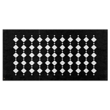 Black & White Double Diamond Bath Towel