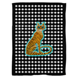 Tara's Tiger Sitting Fleece Blanket (P)