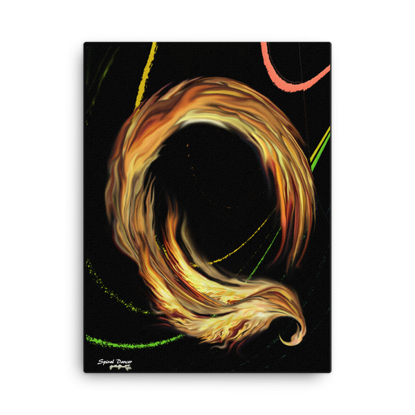 Spiral Dancer on Canvas