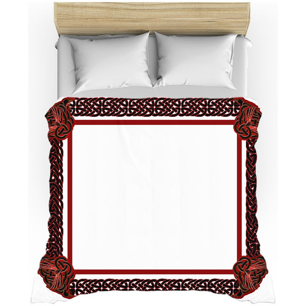 Celtic Knotwork Frame Duvet Cover