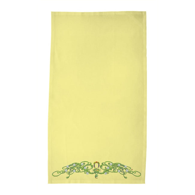 Jasmine Border Tea Towel (HD)