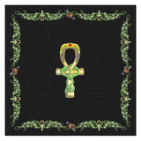 Ankh with Double Jasmine Border Tablecloth