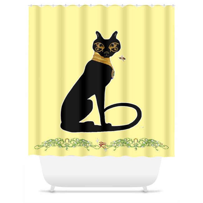 Bast with Double Jasmine Border Shower Curtain
