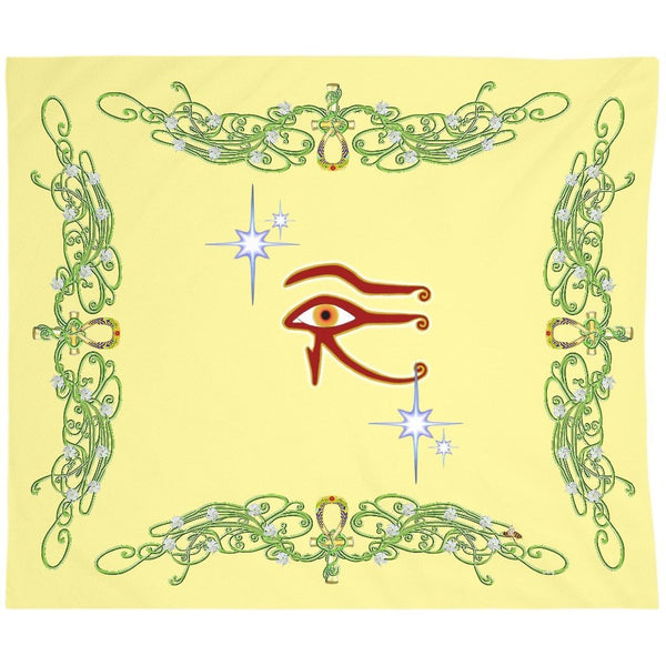 Eye of Isis/Auset with Jasmine Border Tapestry (L)