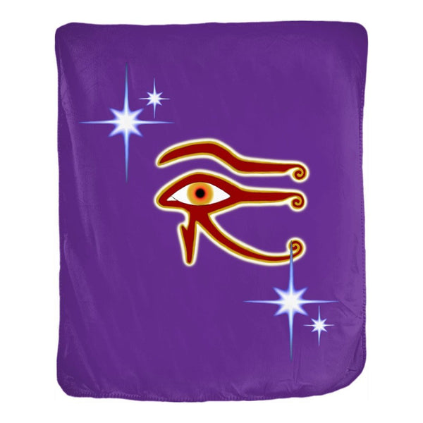 Eye of Isis/Auset Velveteen Blanket (P)