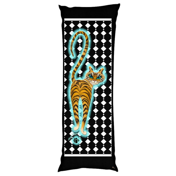 Tara's Tiger Walking Body Pillow Case