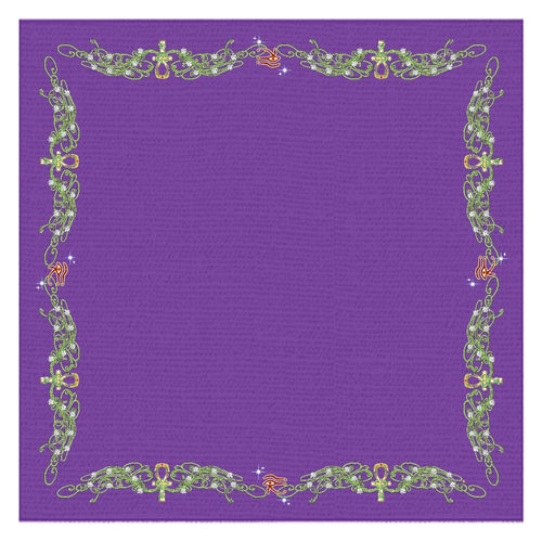 Double Jasmine Border Tablecloth