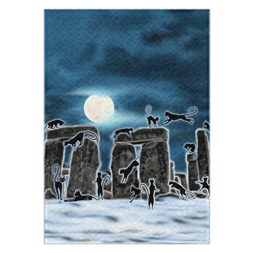 Bast Moon Over Stonehenge Rug (P)