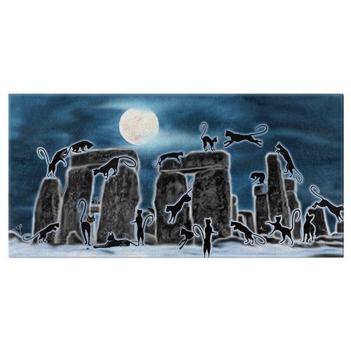 Bast Moon Over Stonehenge Bath Towel
