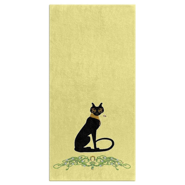 Bast with Jasmine Border Bath Towel (HD)