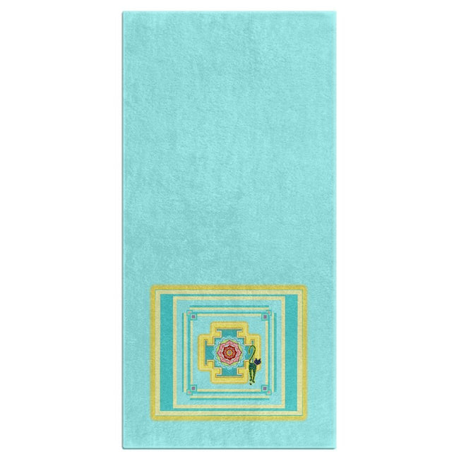 Saraswati's Yantra Bath Towel (HD)