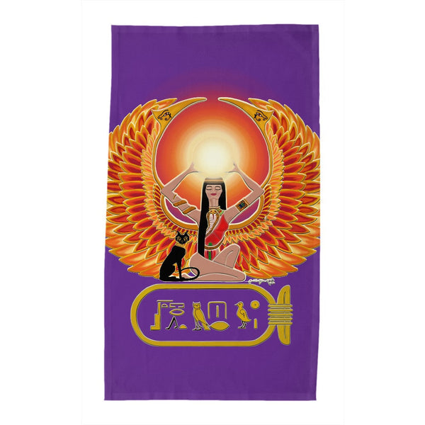 Isis/Auset with Cartouche Tea Towel