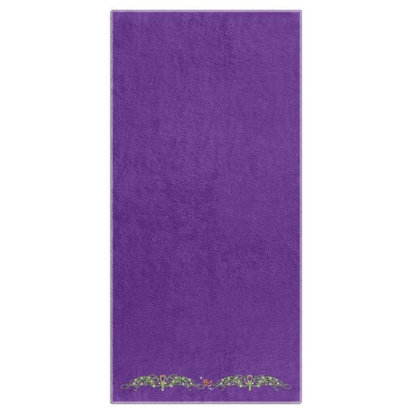 Double Jasmine Border Beach Towel (HD)