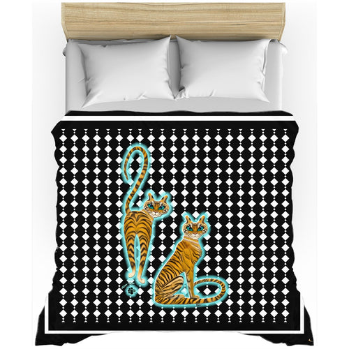 Tara's Tiger Twins Duvet Cover