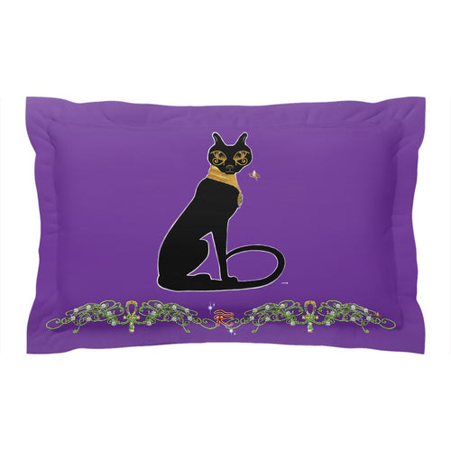 Bast with Double Jasmine Border Pillow Sham