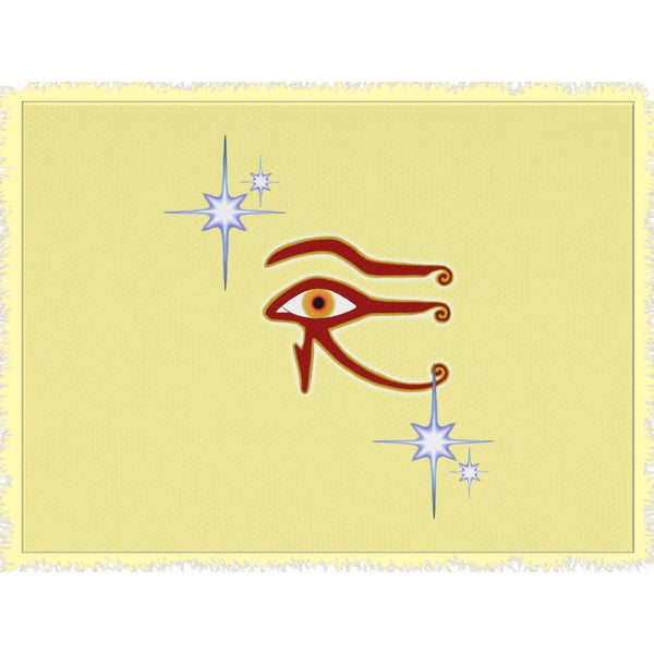 Eye of Isis/Auset Woven Blanket (L)