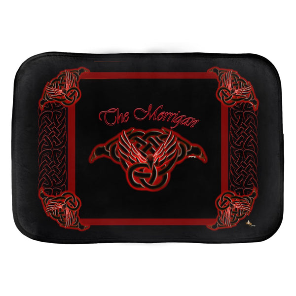 The Morrigan Raven-Knot with Knotwork Frame Bath Mat