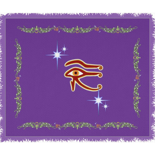 Eye of Isis/Auset with Double Jasmine Border Woven Blanket (L)