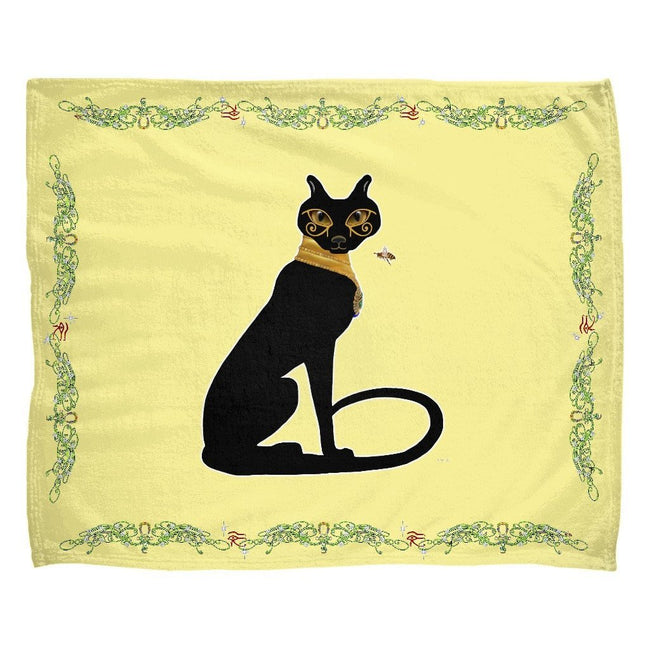 Bast with Double Jasmine Border Fleece Blanket (L)