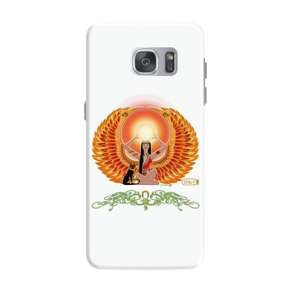 Isis/Auset with Jasmine Border Samsung Galaxy S7 & S7 Edge Phone Cases