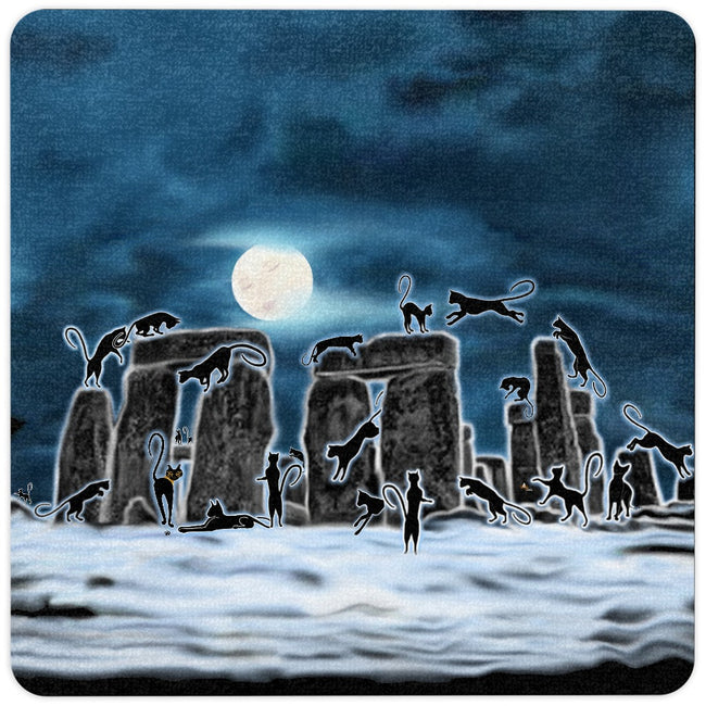 Bast Moon Over Stonehenge Floor Mat