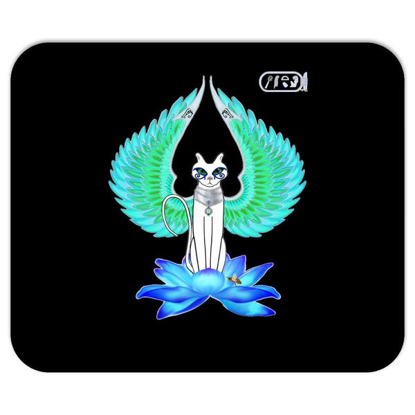 Bast on Blue Lotus Mouse Pad