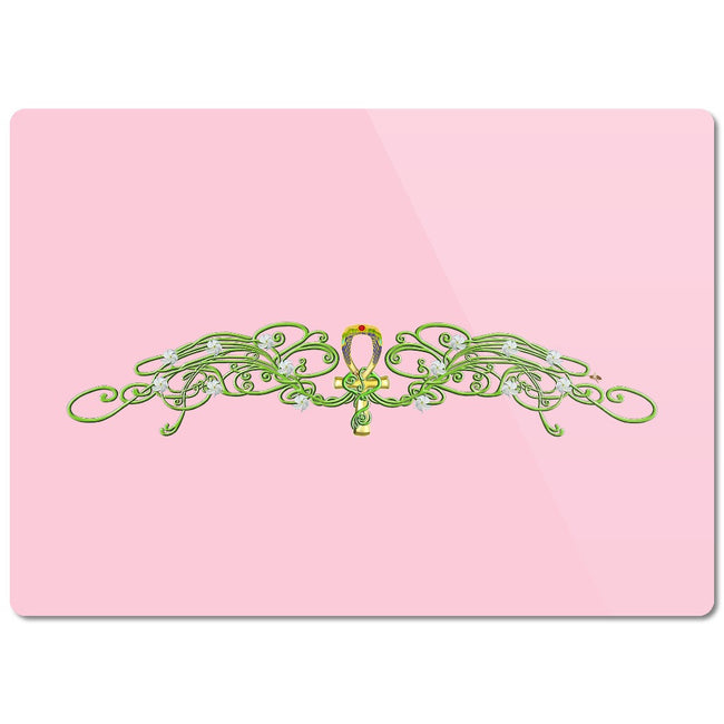 Jasmine Border Glass Cutting Board (C)