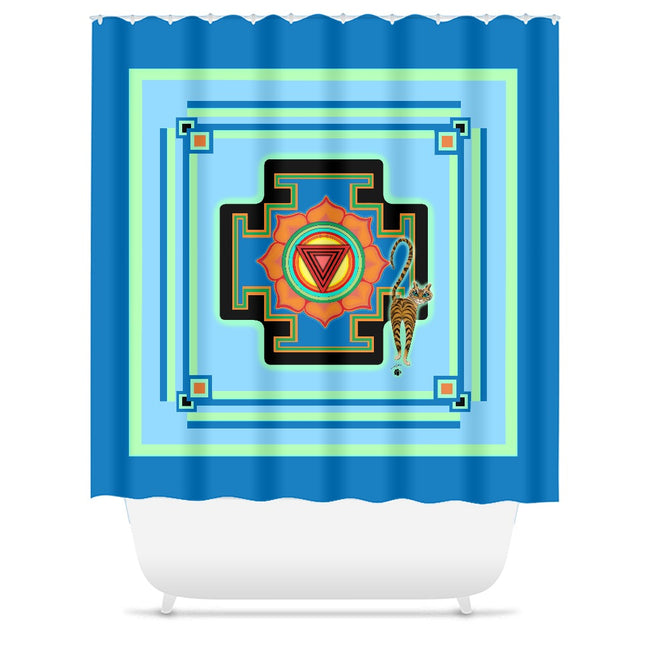Tara's Yantra Shower Curtains