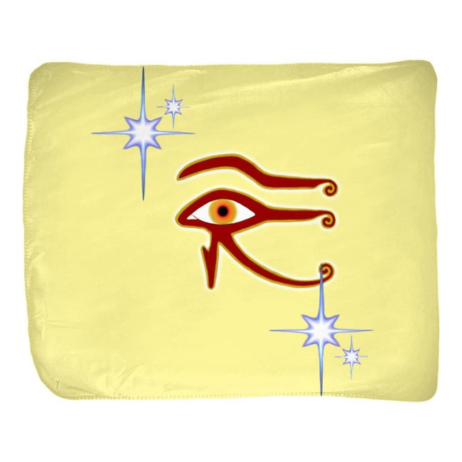 Eye of Isis/Auset Velveteen Blanket (L)