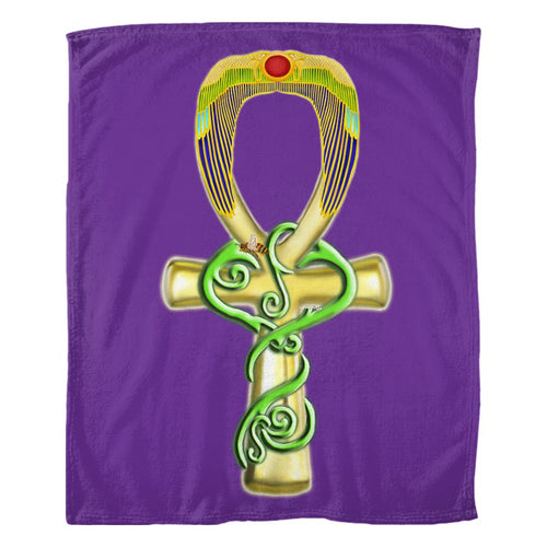 Ankh Fleece Blanket (P)