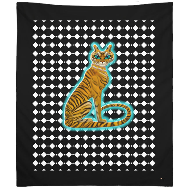 Tara's Tiger Sitting Tapestry (P)