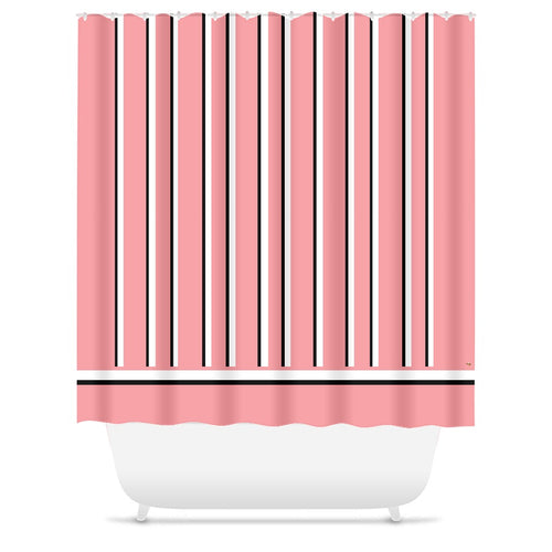 Love Stripes Shower Curtain (E)