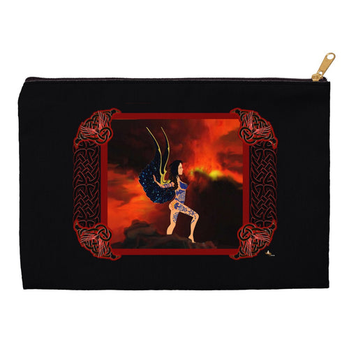 Skin Strong with Knotwork Frame Accessory Pouch