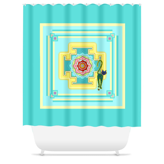 Saraswati's Yantra Shower Curtains