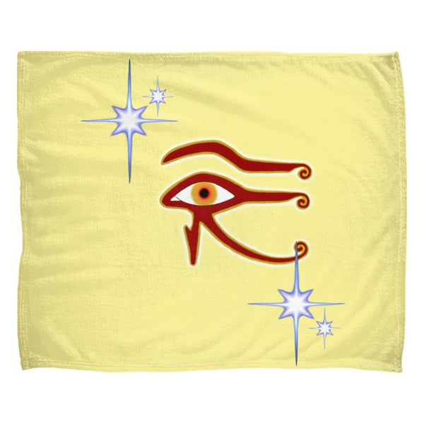 Eye of Isis/Auset Fleece Blanket (L)